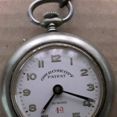Relojes de bolsillo: RELOJ DE BOLSILLO ANTIGUO,GRE ROSKOPF PATENT,10 RUBIS. Lote 174410137