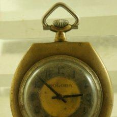 Relojes de bolsillo: CURIOSO RELOJ MECANICO HEXAGONAL FUNCIONANDO. Lote 174410509