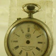 Relojes de bolsillo: ROSKOPF CUERVO Y SOBRINOS LA HABANA MECANICO . Lote 174410735