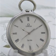 Relojes de bolsillo: OMEGA DE VILLE-FANTÁSTICO RELOJ DE BOLSILLO DE CUARZO-FUNCIONANDO. Lote 174412829