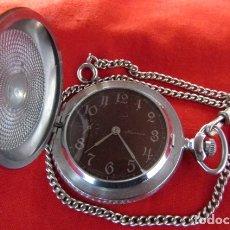Relojes de bolsillo: ANTIGUO RELOJ DE CUERDA MECÁNICO MILITAR DE BOLSILLO SOVIÉTICO URSS UNIÓN SOVIÉTICA RUSIA FUNCIONA. Lote 174512290