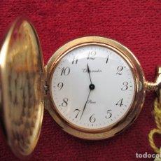 Relojes de bolsillo: RELOJ DE BOLSILLO THERMIDOR DORADO CON TAPA, DE CUERDA MANUAL - SIN USO, FUNCIONANDO - IMPECABLE, CR. Lote 174999717