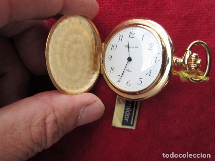 Relojes de bolsillo: RELOJ DE BOLSILLO THERMIDOR DORADO CON TAPA, DE CUERDA MANUAL - SIN USO, FUNCIONANDO - IMPECABLE, CR - Foto 2 - 174999717