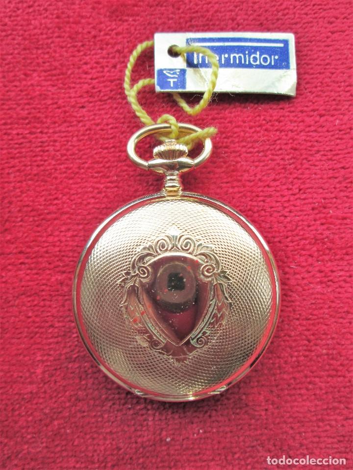 Relojes de bolsillo: RELOJ DE BOLSILLO THERMIDOR DORADO CON TAPA, DE CUERDA MANUAL - SIN USO, FUNCIONANDO - IMPECABLE, CR - Foto 3 - 174999717