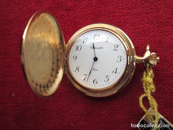 Relojes de bolsillo: RELOJ DE BOLSILLO THERMIDOR DORADO CON TAPA, DE CUERDA MANUAL - SIN USO, FUNCIONANDO - IMPECABLE, CR - Foto 6 - 174999717