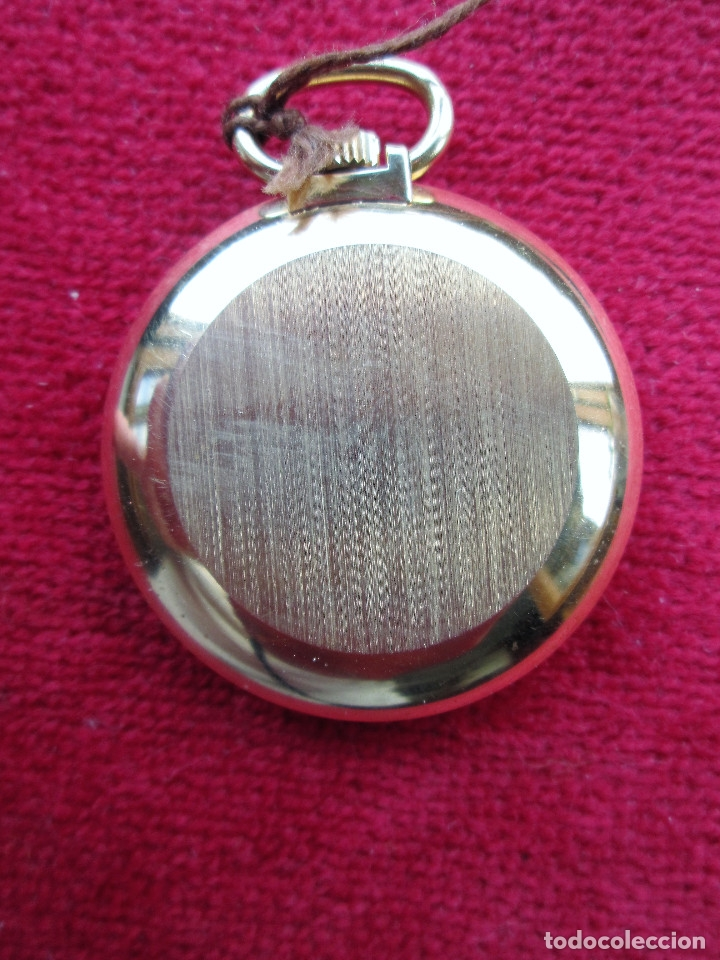 Relojes de bolsillo: RELOJ DE BOLSILLO INSA DORADO, DE CUERDA MANUAL - SIN USO, FUNCIONANDO - IMPECABLE, CRISTAL SIN RALL - Foto 5 - 174999730