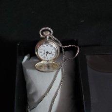 Relojes de bolsillo: RELOJ PLATEADO DE BOLSILLO MARCA THERMIDOR DE CARGA MANUAL (ES MODERNO). DIÁMETRO DE 2,5 CM.. Lote 175048979