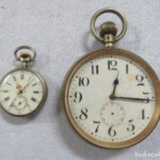 Relojes de bolsillo: TREMENDO RELOJ DE BOLSILLO GOLIATH DE 93 MM DE DIAMETRO SIN CORONA Y 543 GRAMOS, FUNCIONA, DEL 1900. Lote 175183952