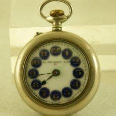 Relojes de bolsillo: PRECIOSO REGULADOR ESFERA ESMALTADA TIPO ROSKOPF. Lote 175223715