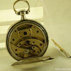 Relojes de bolsillo: RARO RELOJ LE COULTRE Y CIA PLATA LLAVES PUENTES CURVOS FUNCIONANDO. Lote 175225375