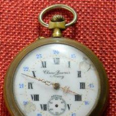 Relojes de bolsillo: RELOJ DE BOLSILLO CHRONO FEUVRIER NANCY - DEPOSE - BRONCE - CON GRABADOS. Lote 175258084