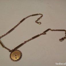 Relojes de bolsillo: *LEONTINA CHAPADA EN ORO (RF:M-2/C). Lote 175406839
