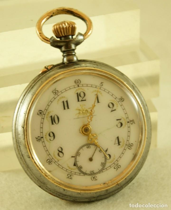 Relojes de bolsillo: RELOJ DE HIERRO ANTIGUO ANCORA FUNCIONANDO - Foto 2 - 175425802