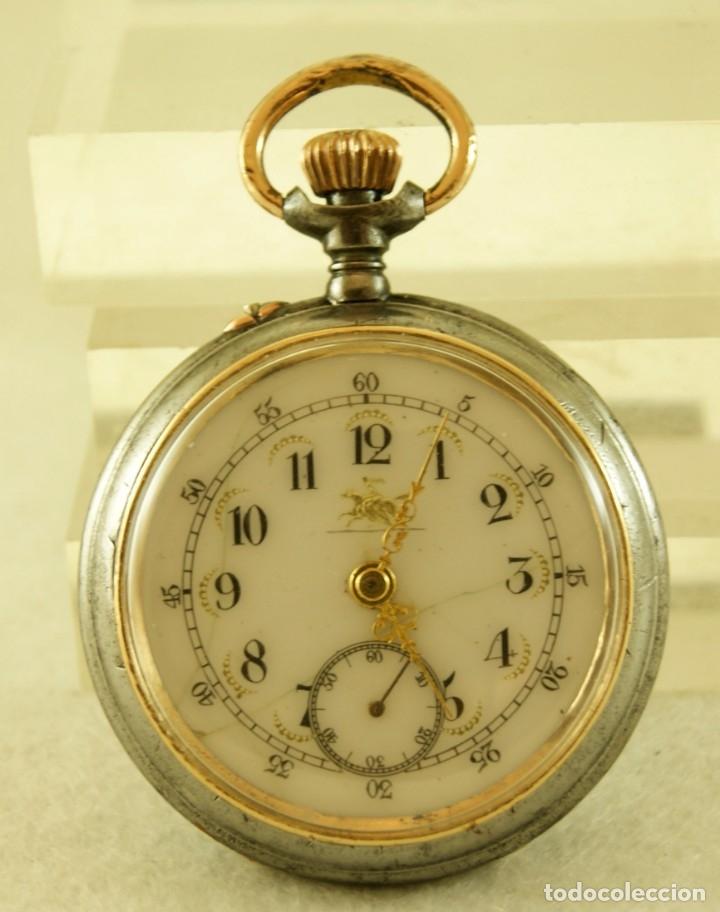 Relojes de bolsillo: RELOJ DE HIERRO ANTIGUO ANCORA FUNCIONANDO - Foto 3 - 175425802