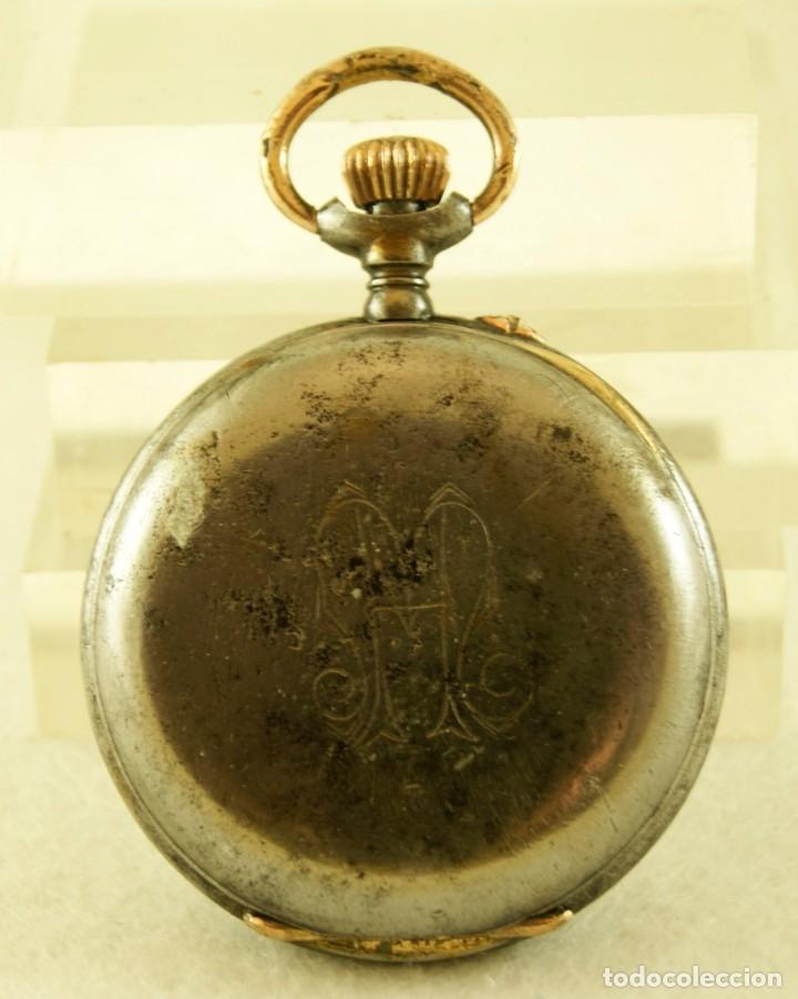 Relojes de bolsillo: RELOJ DE HIERRO ANTIGUO ANCORA FUNCIONANDO - Foto 4 - 175425802