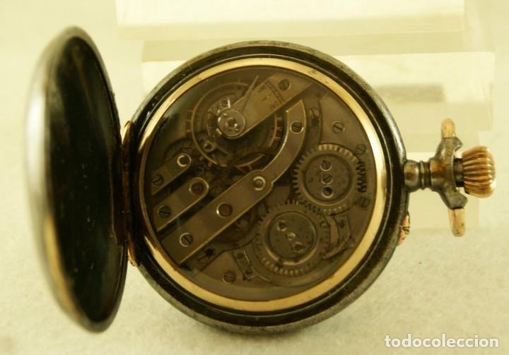 Relojes de bolsillo: RELOJ DE HIERRO ANTIGUO ANCORA FUNCIONANDO - Foto 6 - 175425802