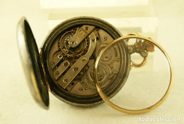 Relojes de bolsillo: RELOJ DE HIERRO ANTIGUO ANCORA FUNCIONANDO - Foto 7 - 175425802