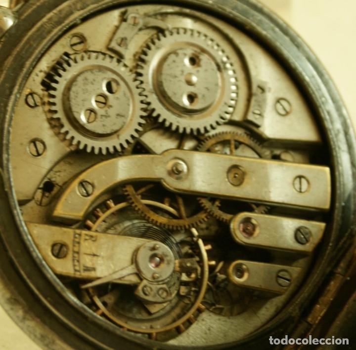 Relojes de bolsillo: RELOJ DE HIERRO ANTIGUO ANCORA FUNCIONANDO - Foto 8 - 175425802