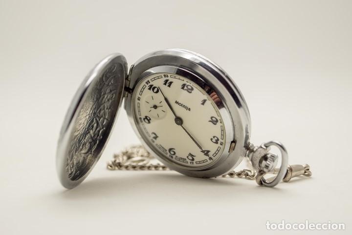 Relojes de bolsillo: RELOJ DE BOLSILLO MOLNIJA MADE IN USSR 1941 - Foto 7 - 175448895
