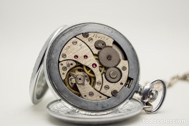 Relojes de bolsillo: RELOJ DE BOLSILLO MOLNIJA MADE IN USSR 1941 - Foto 8 - 175448895