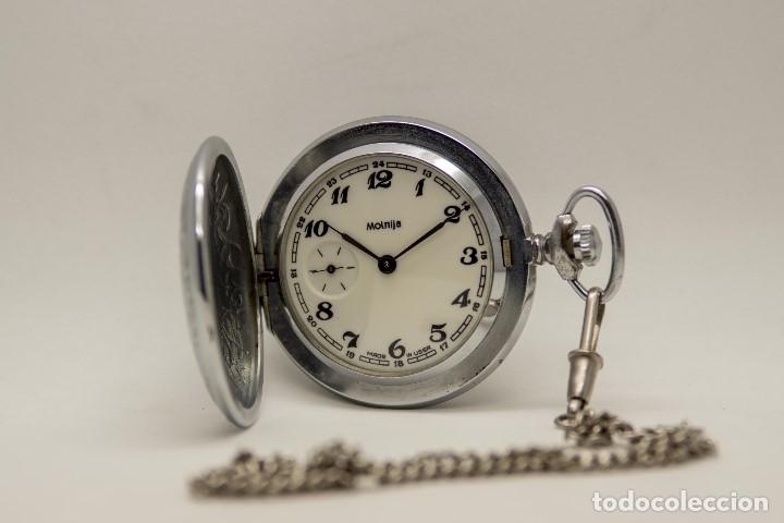 Relojes de bolsillo: RELOJ DE BOLSILLO MOLNIJA MADE IN USSR 1941 - Foto 9 - 175448895