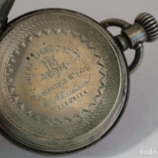 Relojes de bolsillo: RELOJ DE BOLSILLO ANCRE LIGNE DROITE REMONTOIR Nº56042 EN PLATA DE LEY. Lote 175476358