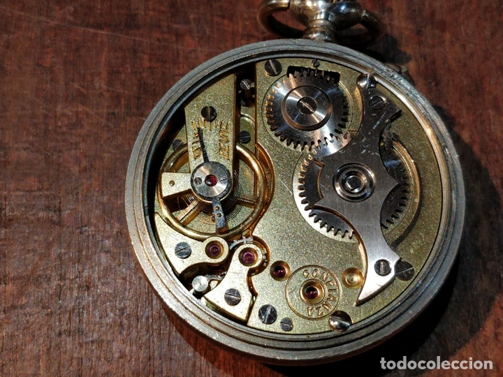 Relojes de bolsillo: RELOJ DE BOLSILLO CONFIANZA ROSKOPF FUNCIONANDO. CRISTAL ORIGINAL - Foto 5 - 53512295