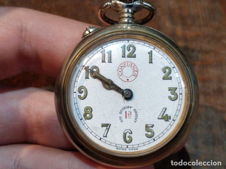 Relojes de bolsillo: RELOJ DE BOLSILLO CONFIANZA ROSKOPF FUNCIONANDO. CRISTAL ORIGINAL - Foto 2 - 53512295