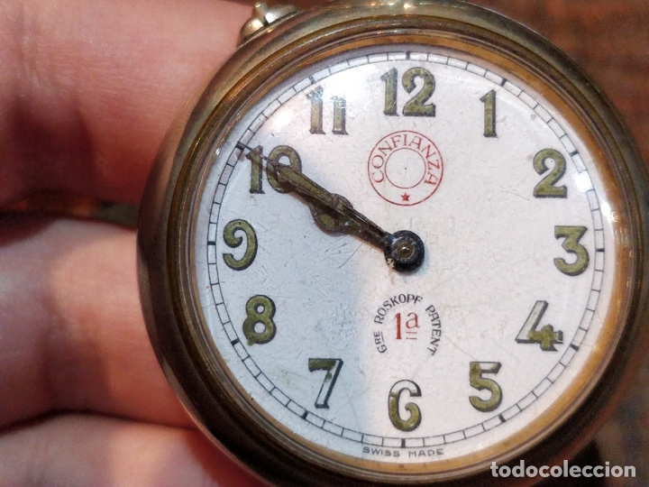 Relojes de bolsillo: RELOJ DE BOLSILLO CONFIANZA ROSKOPF FUNCIONANDO. CRISTAL ORIGINAL - Foto 3 - 53512295