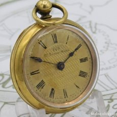 Relojes de bolsillo: IVY-BONITO RELOJ DE BOLSILLO-SUIZO-CIRCA 1880-1900-FUNCIONANDO. Lote 175627373