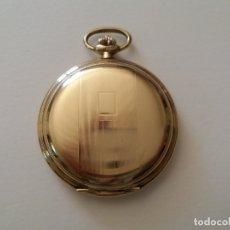 Relojes de bolsillo: RELOJ DE BOLSILLO CON DOBLE CHAPADO EN ORO. MARCA. JUNGHANS. USADO.. Lote 175640288