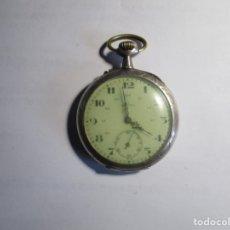 Relojes de bolsillo: RELOJ DE BOLSILLO PARA REPARAR O PIEZAS NO FUNCIONA 51 MM SIN CONTAR LA CORONA DE PLATA . Lote 175694882