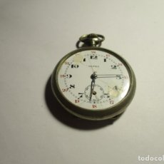 Relojes de bolsillo: RELOJ ULTRA FUNCIONANDO DE PLATA 44 MM SIN CONTAR LA CORONA . Lote 175700933