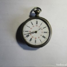 Relojes de bolsillo: RELOJ DE PLATA REPARAR O PIEZAS NO FUNCIONA 48 MM . Lote 175702860