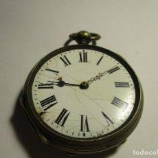 Relojes de bolsillo: RELOJ PARA REPARAR NO FUNCIONA DE PLATA TRES TAPAS 47 MM . Lote 175704190