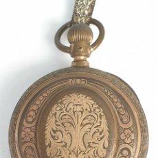 Relojes de bolsillo: RELOJ DE BOLSILLO. CAJA DE METAL DORADO. SISTEMA ROSKOPF. SABONETA. SIGLO XIX-XX.. Lote 175736213