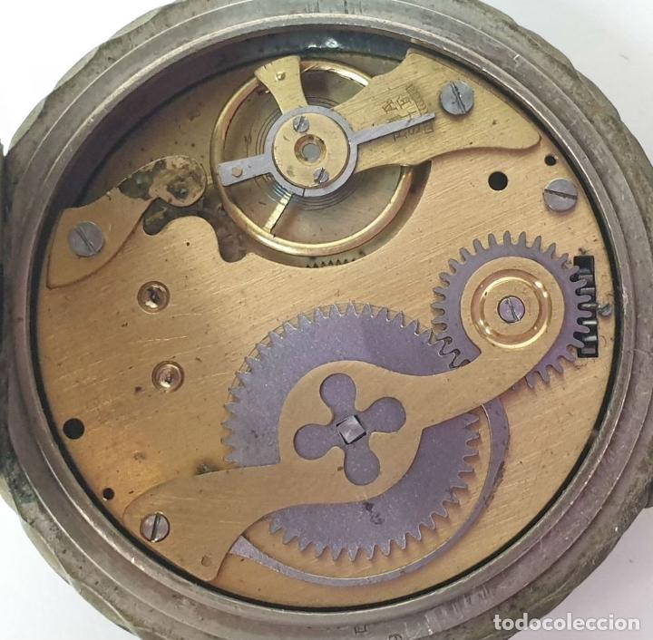 Relojes de bolsillo: RELOJ DE BOLSILLO. TIPO LEPINE. ESTILO ROSKOPF. CAJA DE METAL. SIGLO XX. - Foto 2 - 175738248