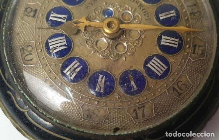 Relojes de bolsillo: RELOJ DE BOLSILLO. TIPO LEPINE. ESTILO ROSKOPF. CAJA DE METAL. SIGLO XX. - Foto 3 - 175738248