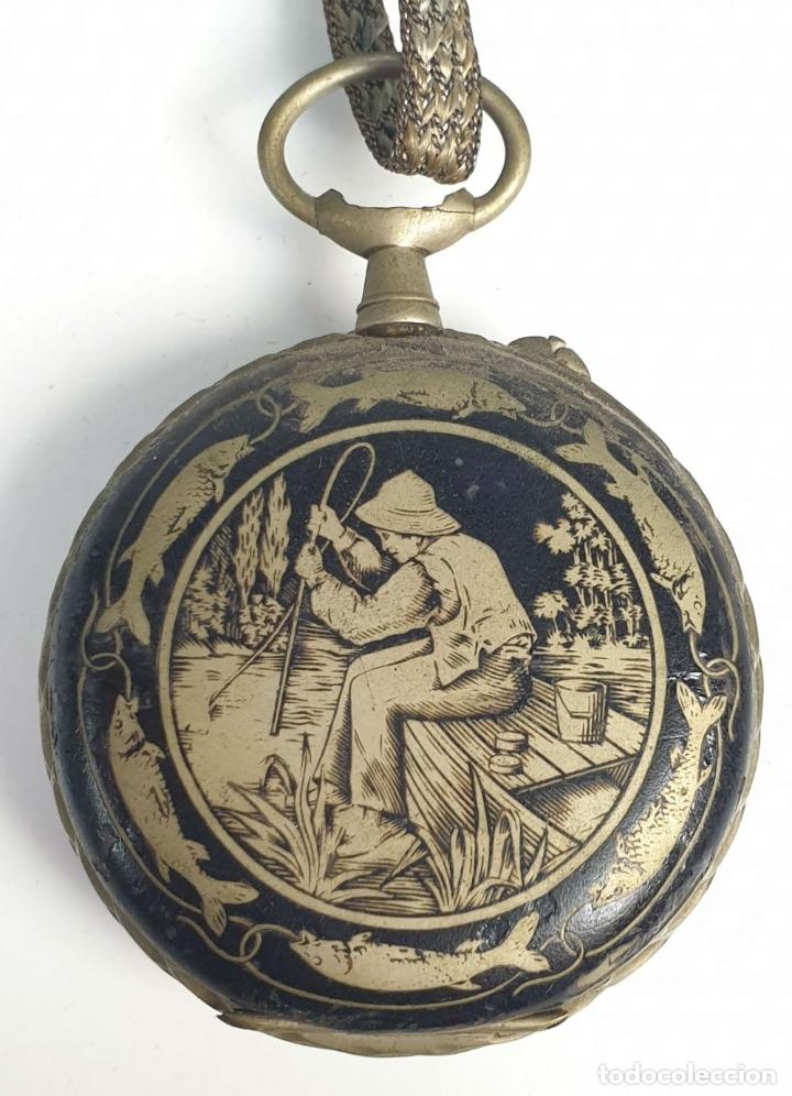 Relojes de bolsillo: RELOJ DE BOLSILLO. TIPO LEPINE. ESTILO ROSKOPF. CAJA DE METAL. SIGLO XX. - Foto 4 - 175738248