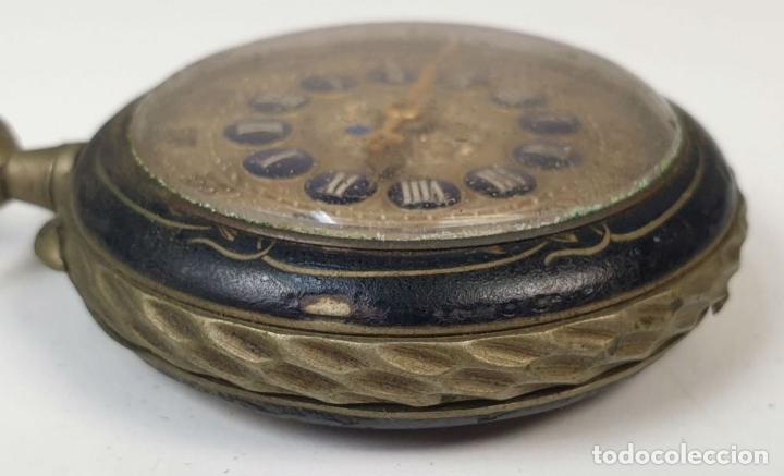 Relojes de bolsillo: RELOJ DE BOLSILLO. TIPO LEPINE. ESTILO ROSKOPF. CAJA DE METAL. SIGLO XX. - Foto 5 - 175738248