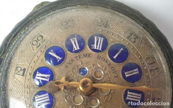 Relojes de bolsillo: RELOJ DE BOLSILLO. TIPO LEPINE. ESTILO ROSKOPF. CAJA DE METAL. SIGLO XX. - Foto 6 - 175738248