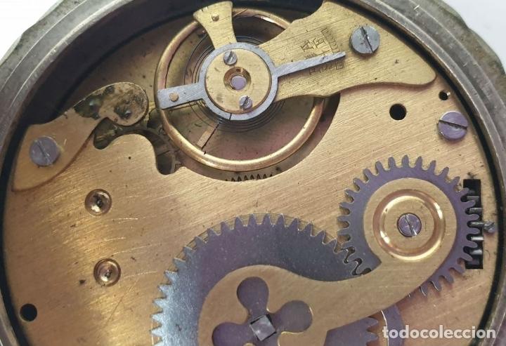 Relojes de bolsillo: RELOJ DE BOLSILLO. TIPO LEPINE. ESTILO ROSKOPF. CAJA DE METAL. SIGLO XX. - Foto 7 - 175738248