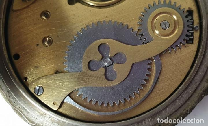 Relojes de bolsillo: RELOJ DE BOLSILLO. TIPO LEPINE. ESTILO ROSKOPF. CAJA DE METAL. SIGLO XX. - Foto 8 - 175738248