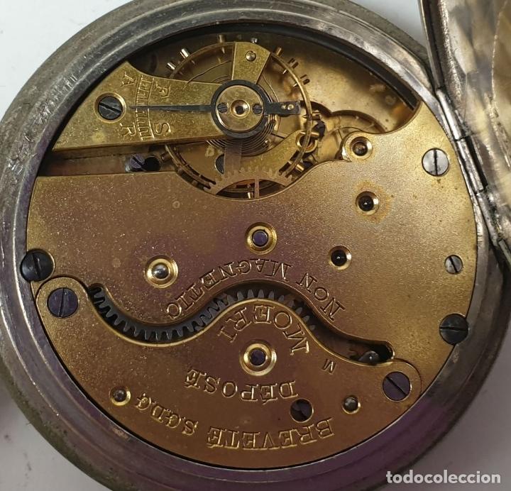 Relojes de bolsillo: RELOJ DE BOLSILLO. MARCA MOERI. TIPO LEPINE. CAJA DE METAL. SIGLO XX. - Foto 2 - 175740762