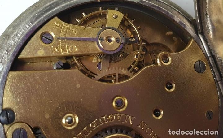 Relojes de bolsillo: RELOJ DE BOLSILLO. MARCA MOERI. TIPO LEPINE. CAJA DE METAL. SIGLO XX. - Foto 5 - 175740762