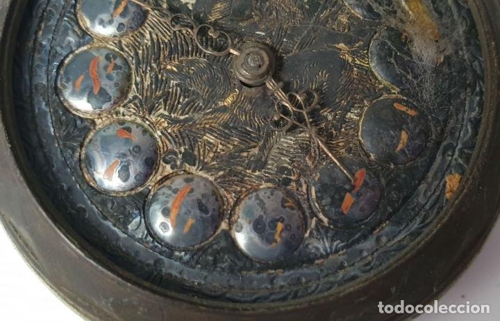 Relojes de bolsillo: RELOJ DE BOLSILLO. MARCA MOERI. TIPO LEPINE. CAJA DE METAL. SIGLO XX. - Foto 8 - 175740762