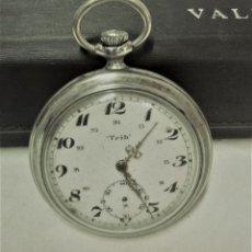 Relojes de bolsillo: RELOJ BOLSILLO TRIB BESANÇON.DEPOSÉ ARGENTAN.NO FUNCIONA.VER DESCRIPCIÓN. Lote 175794124