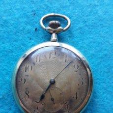 Relojes de bolsillo: RELOJ DE BOLSILLO MUY ANTIGUO CON CAJA LABRADA. Lote 175796944