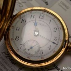 Relojes de bolsillo: RELOJ BOLSILLO AMERICAN WALTHAMORO 14 KILATES INCREIBLE BONITO,CON CERTIFICADO DE ORIGINAL 144GR!!. Lote 175816198