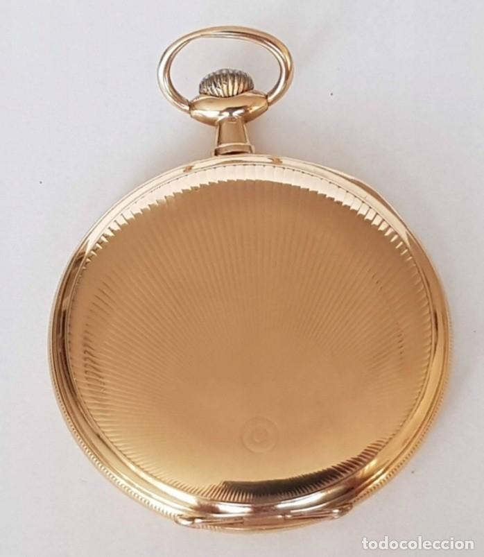 ORGINAL RELOJ BOLSILLO ETERNA SCHILD FRÉRES & CO. SWISS PURO ORO 14 KILATES, 75 GRAMOS SUIZA (Relojes - Bolsillo Carga Manual)